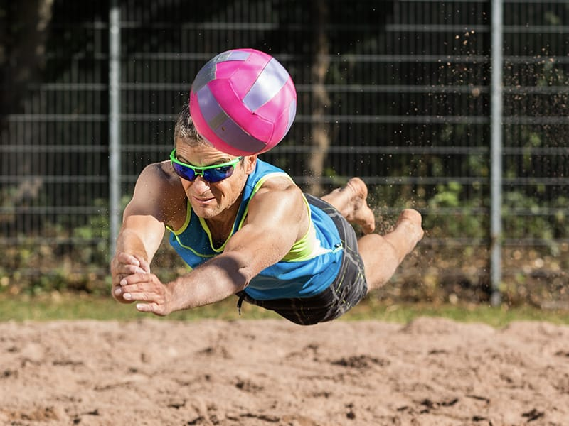 Custom Sports Lenses for Volleyball