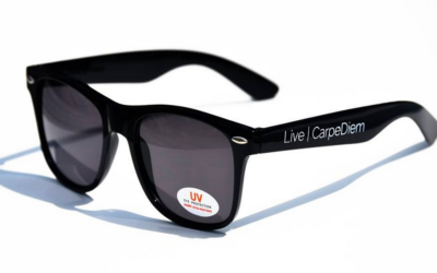 Did you get sunglasses with a UV sticker on them?